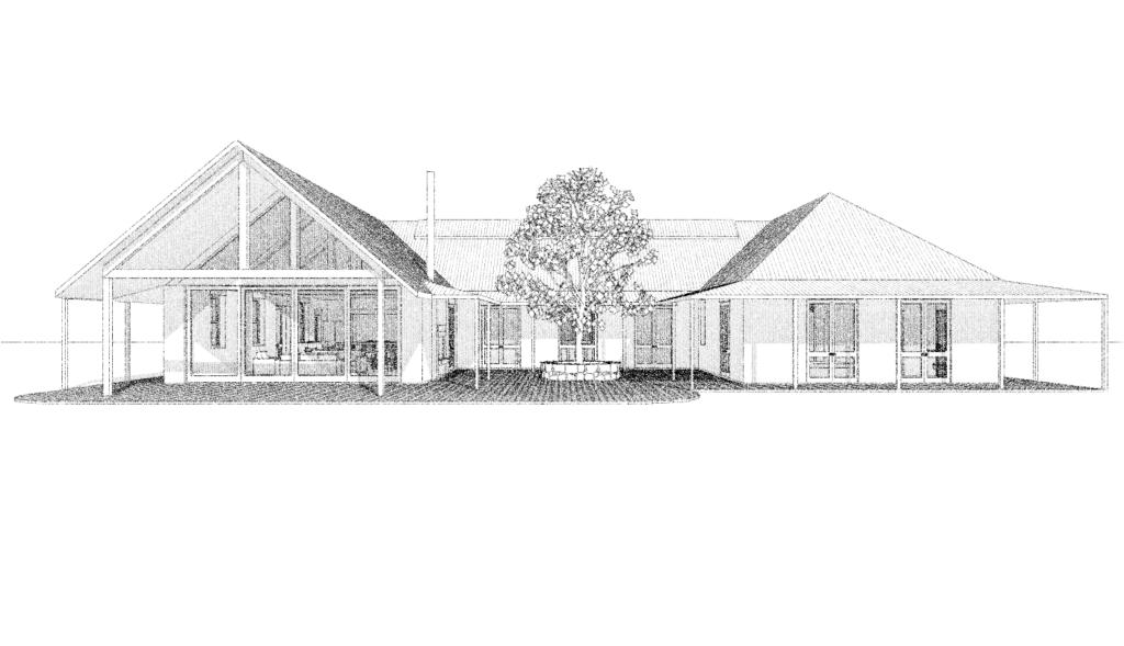 070 rammed earth u-shaped homestead design